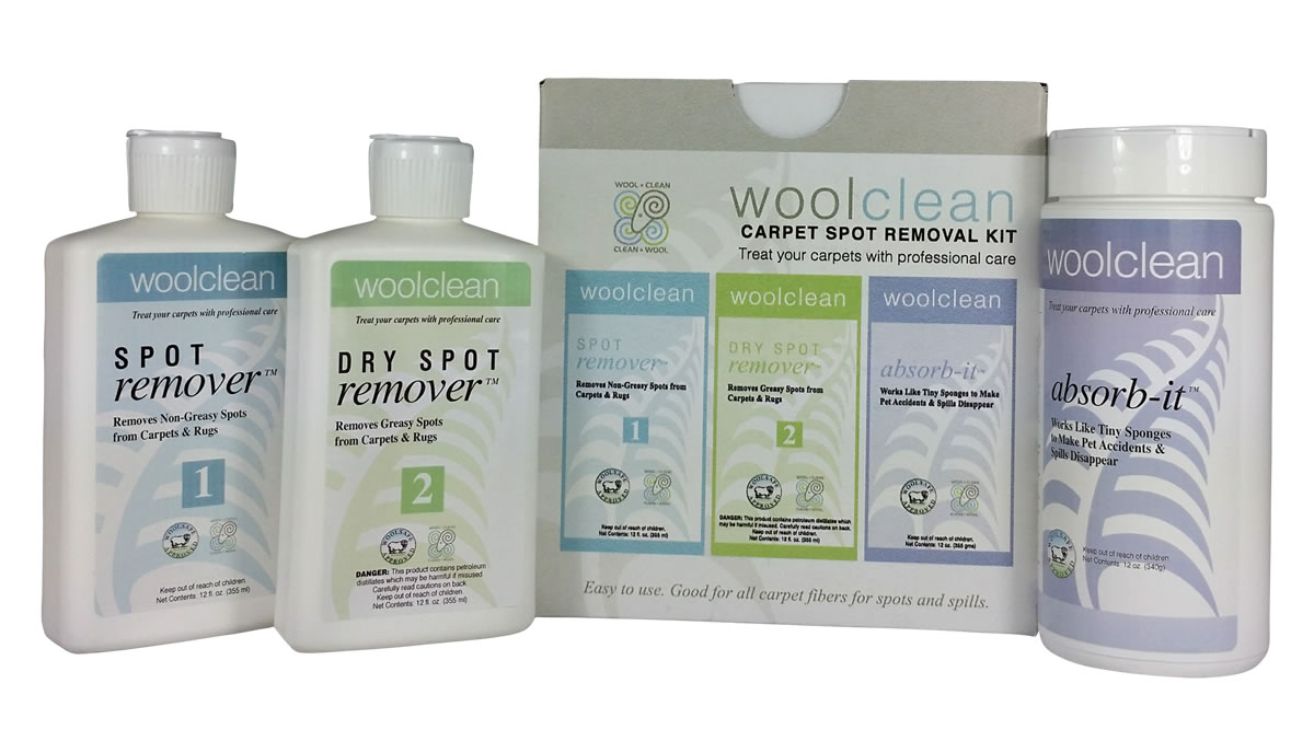 WoolClean Kit -- Care for Your Wool Carpet